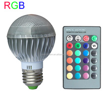 Hot sale Colors Changing 5W magic E27 RGB LED Lamp Light Bulb with IR Remote Control