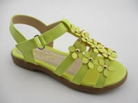 Hot selling Handmade flowers girls high heel sandals shoes