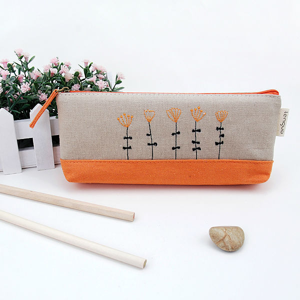 LANGUO custom gift canvas zipper pencil bag