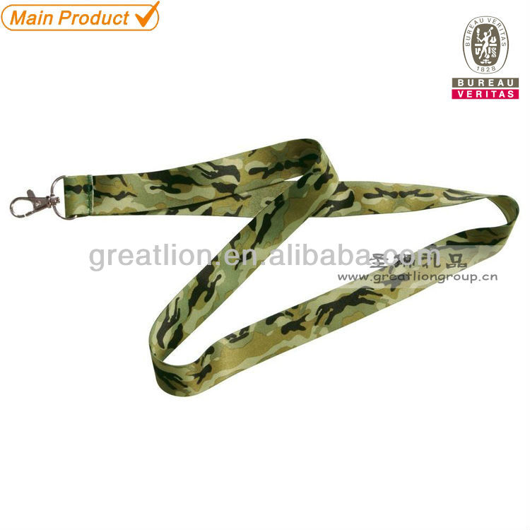 Fashion army camouflage lanyard