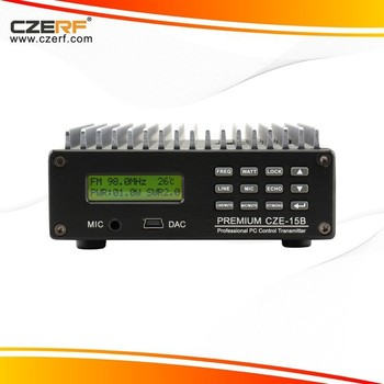 CZE-15B PC Control 15 Watts Stereo Audio FM Transmitter,car fm transmitter with line out function