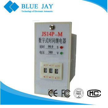 JS14P-M LED 50Hz AC24V 220V display time relay Time Delay Relay