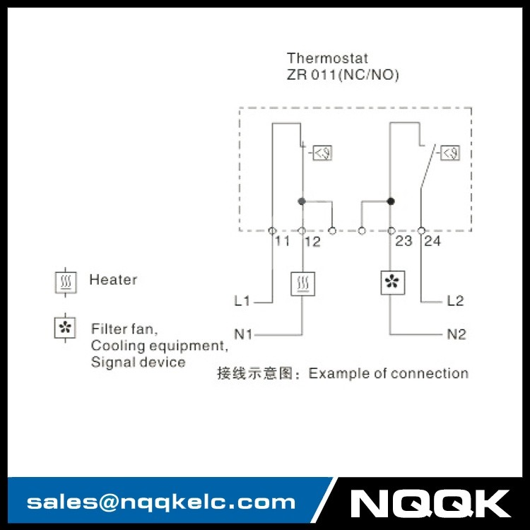 ZR 011 Dual Thermostat Temperature thermostat controller for regulating