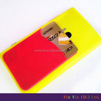 Self adhesive card holder/mobile phone card pouch, 3M sticker custom silicone card holder skin for smart phone