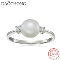 Competitive Price Simple Design Pave cz stone 925 sterling silver pearl ring settings