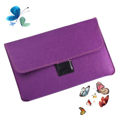 Reusable flip cover tablet felt material laptop bag hp