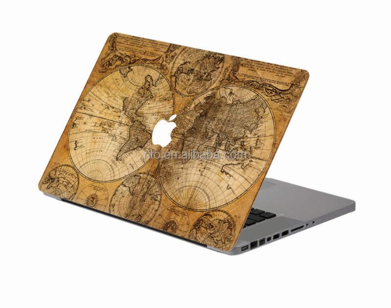 Full Body Decal Skin Sticker for Mac Book, PVC Laptop Body Skin for New Apple Macbook Pro 15 with Multi-touch Bar