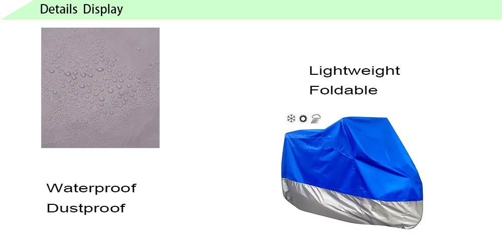 High Quality Customized Waterproof An-ti UV Durable Motorcycle Cover for Outdoor Activity motorbike motorcycle cover