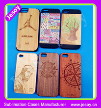 JESOY Wholesale PC Wood Mobile Phone Cover Case For iPhone 5 5s 6 6s