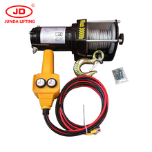 China factory supply 2000lbs 12V/24V Electric Winch For ATV/UTV, cable pulling winch, small winch