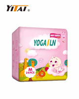 2016 Newest and Hot Sale Absorbent Disposable Baby Diaper with Cute Front Tape