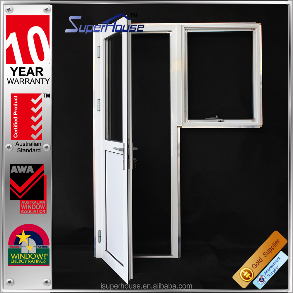 AS2047 6063-T5 aluminum buckle casement/french door with timber reveal in high waterproof