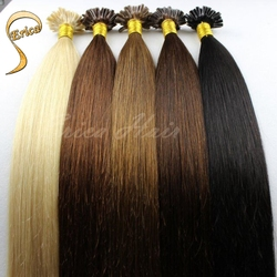 New cheap human hair 100% Malaysian straight virgin hair 1 g/strand hair extension