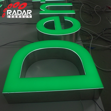 Waterproof outdoor advertising 3d led backlit letter signboard signage
