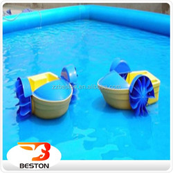 Kids Plastic Pedal Boat / Swimming Pool Aqua Paddle Boat For Sale