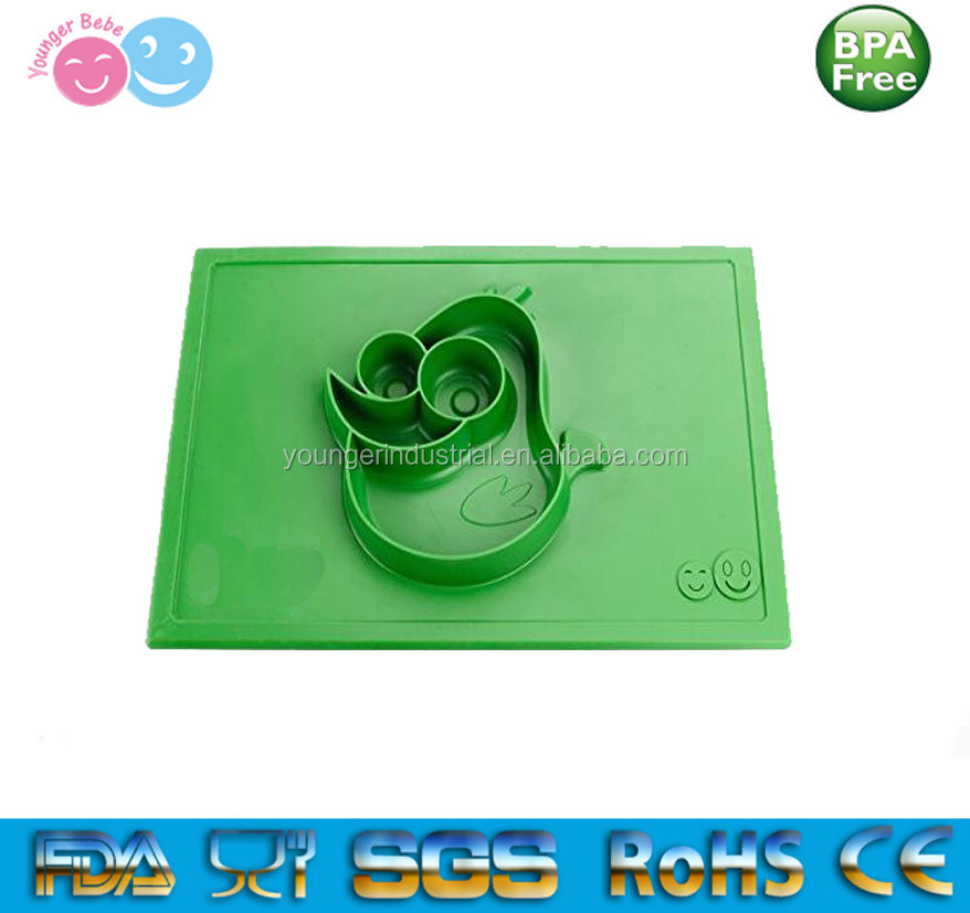 Safe Non-toxic Food Grade Silicone Placemat and Tray for Babies, Infants, Toddlers and Kids Suctions To Table
