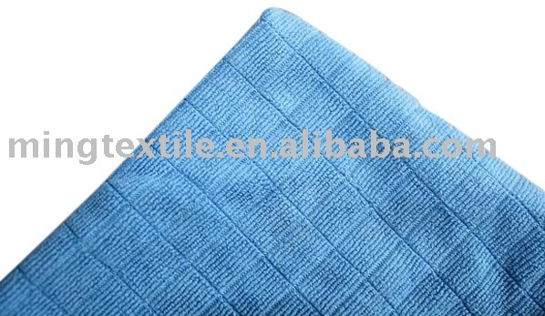 microfiber checked weft knitted cleaning cloth