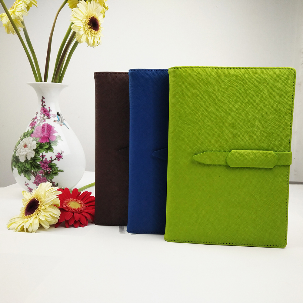 pu leather organizers / leather diary notebook organizers / the daily personal planners with pen loop