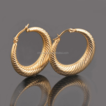 Fashion New Designs Gold Round Hollow Earrings Indian For Women