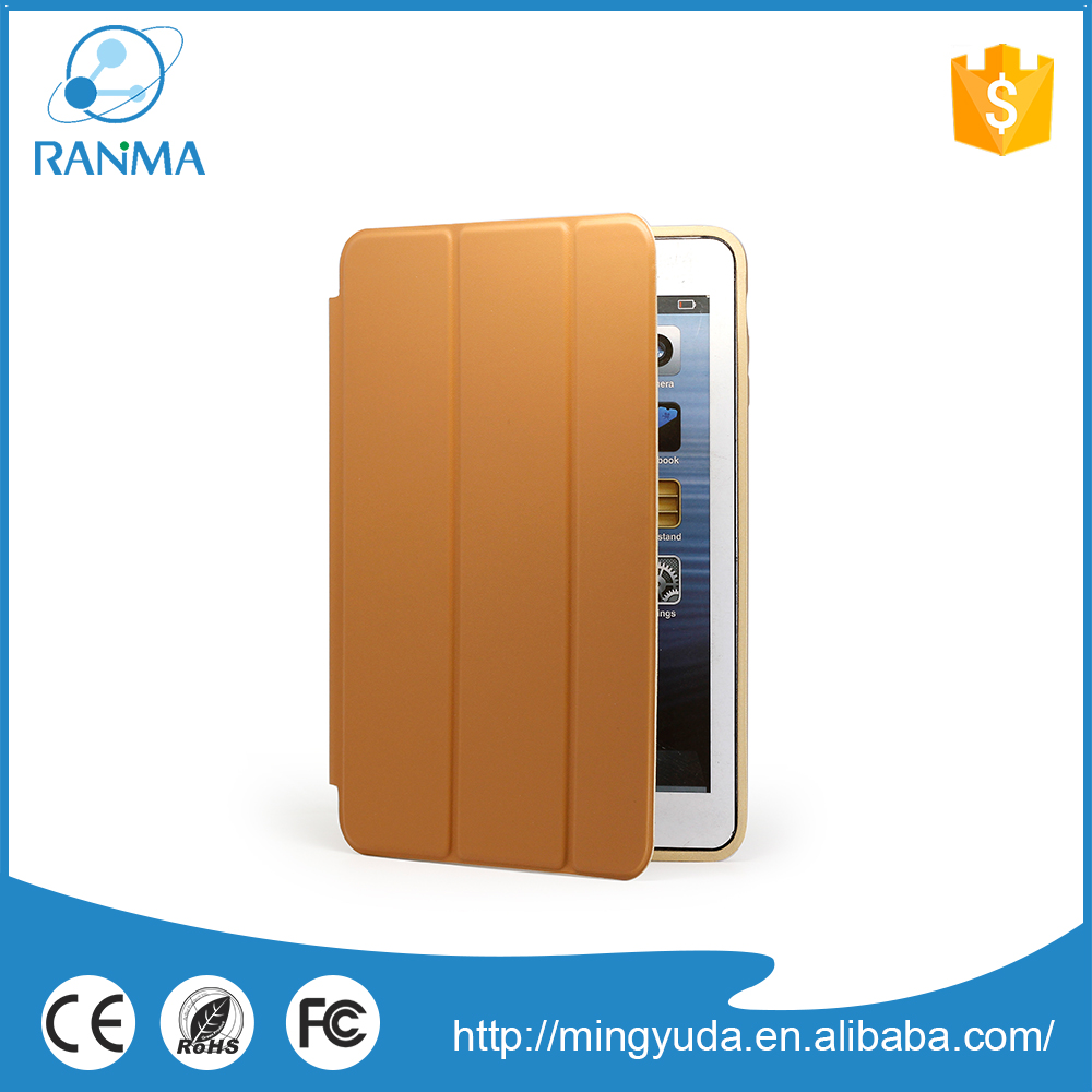 Universal stand ultra thin flip cover pu leather case for ipad mini