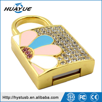 Gift Promotion Flower Lock 16GB 32GB USB 3.0/2.0 Jewerly UDP Pen Drive for Girls