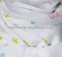 100% cotton breathable muslin fabric