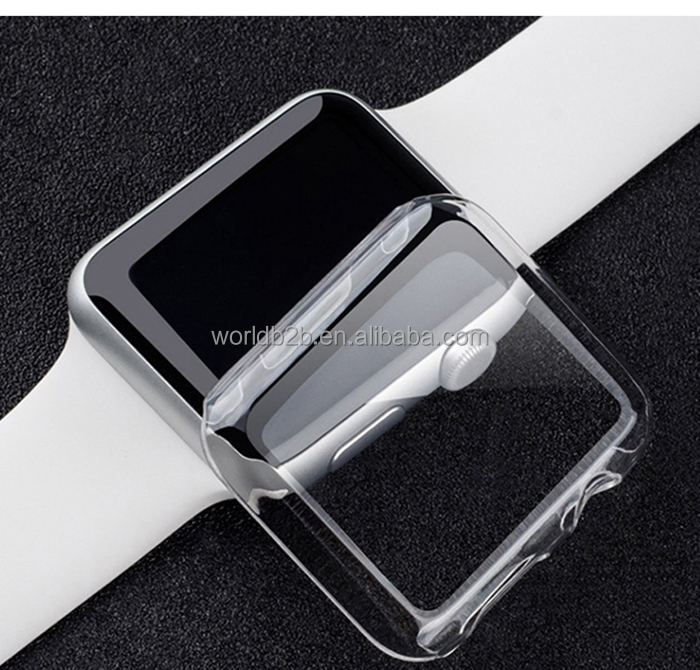 Slim Fit Clear PC Hard Protective Case for Apple Watch Series 2