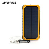 External Solar Cellphone Charger 12000mah Portable With Dual USB