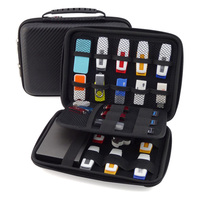 Multifunction Electronic Accessories Organizer Holder USB Flash Drive Case Carry Bag Hard Drive Case Bag