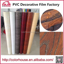 Factory offer self adhesive wood grain vinyl film for decorative furniture
