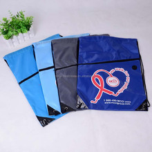 Custom waterproof polyester drawstring camping backpack with custom logo from china factory