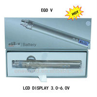 Hot selling product 2013 ego v 1100mah ego passthrough,ego 2 3.0-6.0 variable volatage battery and LCD display