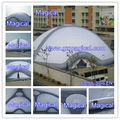 Inflatable outdoor dome tent