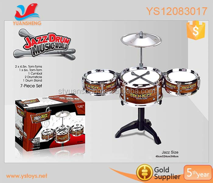 Factory wholesale music learning toys kids jazz drum set