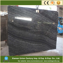 Ancient classic wooden grain black marble stone