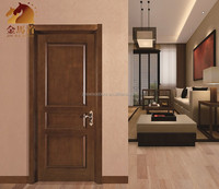 China factory safety entrance door MDF material Solid wood interior doors