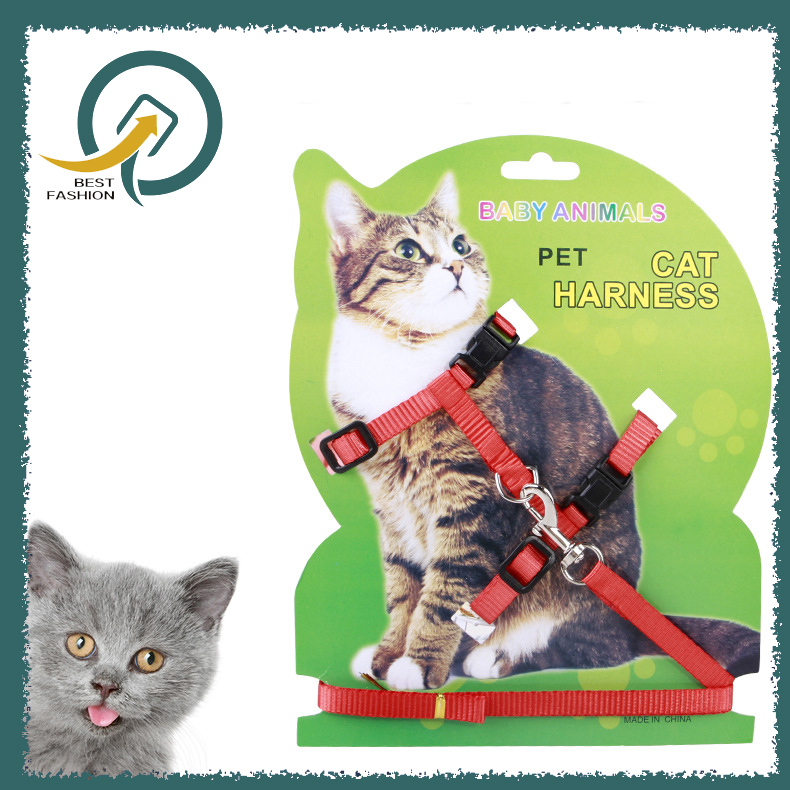 Cat Harness And Leash Nylon Products For Animals Adjustable Pet Traction Harness Belt
