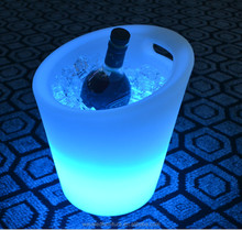 Nice-looking bottle service bucket illuminated ice buckets