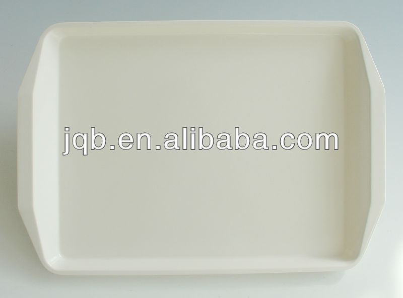 CHEAP plastic serving TRAY WITH HANDLE OF 100% MELAMINE MATERIAL PASSING SGS CERTIFICATE
