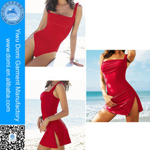 Domi 2014 Sexy One Piece Swimwear Smart And Sexy Bikini Sex Is Open Fast Open With Charming A Slit Short Skirt