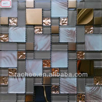 Top grade metallic vidrepur glass mosaic tile