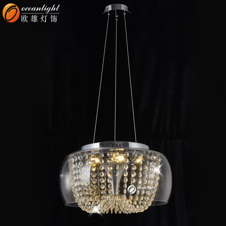 Crystal Celling Modern Pendant Lamp with Glass Shade OM88453