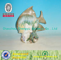 Chinese High quality ceramic craft fish porcelain