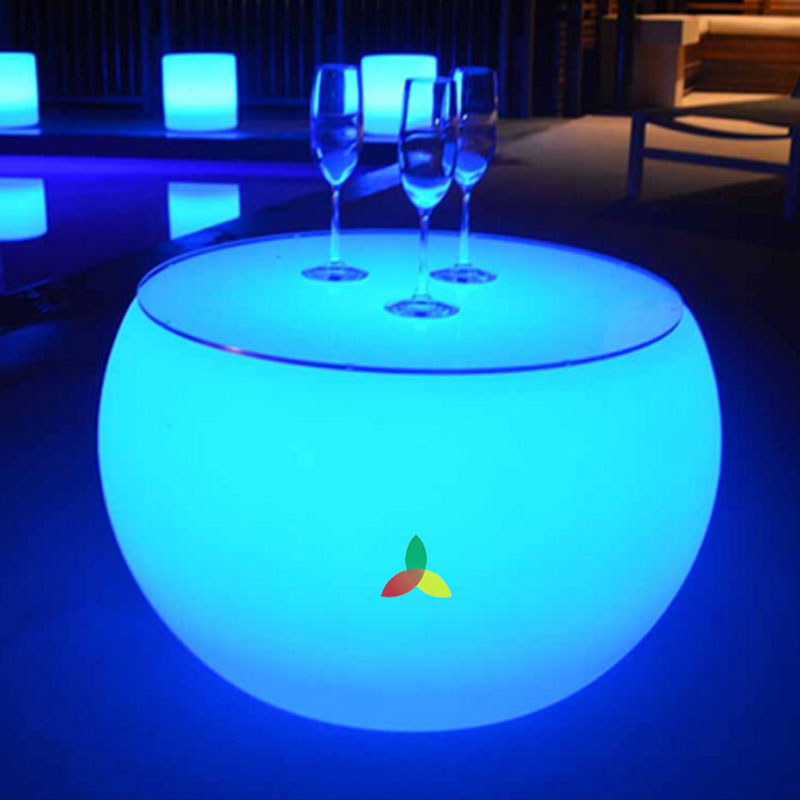 Portable illuminated RGB LED light up bar <strong>table</strong>