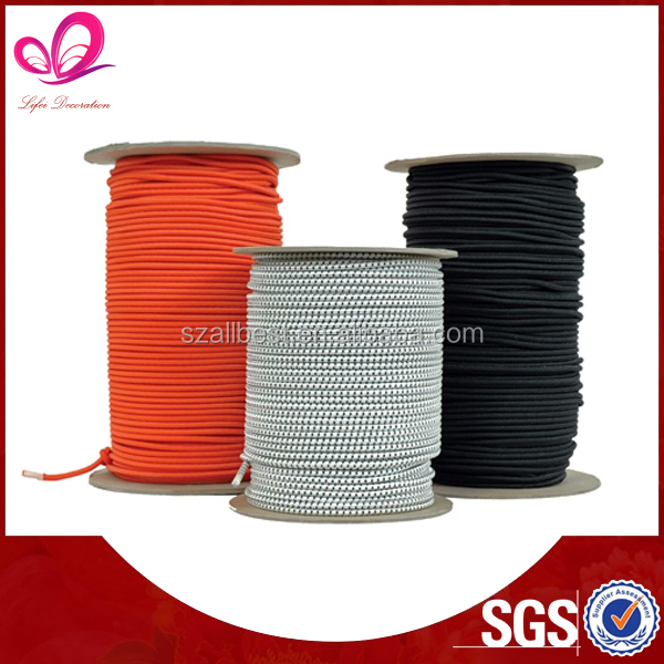 Polyester/cotton/nylon 0.8mm ~10mm round elastic cord for bags/garments