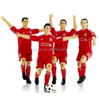 custom make plastic aciton figure football players,custom team plastic football player action figures,own design action figures