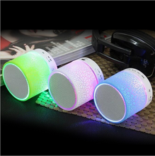 2017 Portable Mini Colorful Flash LED Light Waterproof Wireless Bluetooth Speaker with FM Radio S10 Bluetooth Speakers