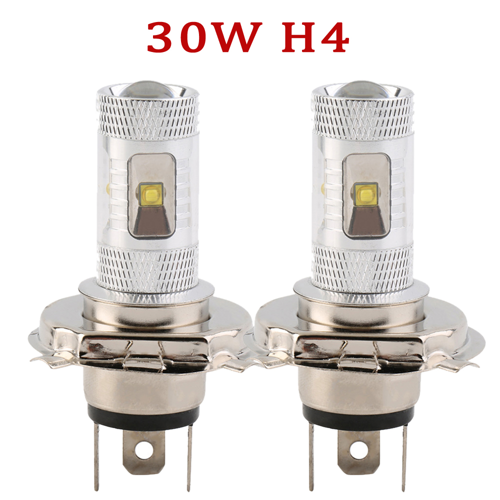 H4 9003 30W White Car Fog Head Light Signal Tail Parking Bulb Lamp DC 12V H4 LED Car Ligh