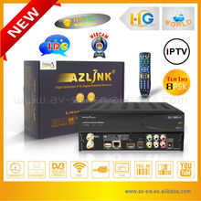 Big discount AZLINK HD S1 support Turbo 8PSK digital satellite receiver FTA decode for north america