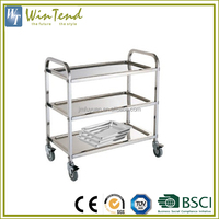 Hospital cleaning 3-Tier stainless steel dressing medical trolley